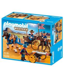 Playmobil kavaleri og kanon med hestevogn 5249 western