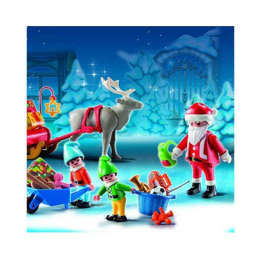 Se Playmobil julekalender 5494 julemandens vaerksted opstilling