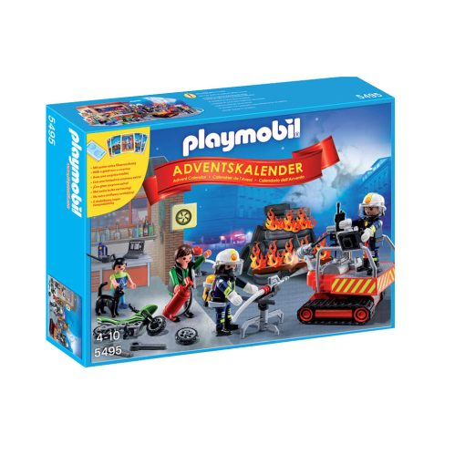 Playmobil julekalender 5495 brandmænd i redningsaktion