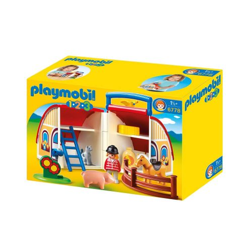 Playmobil 1-2-3 tag-med gård og lade 6778