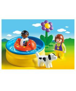 Playmobil 1-2-3 Børn med badebassin