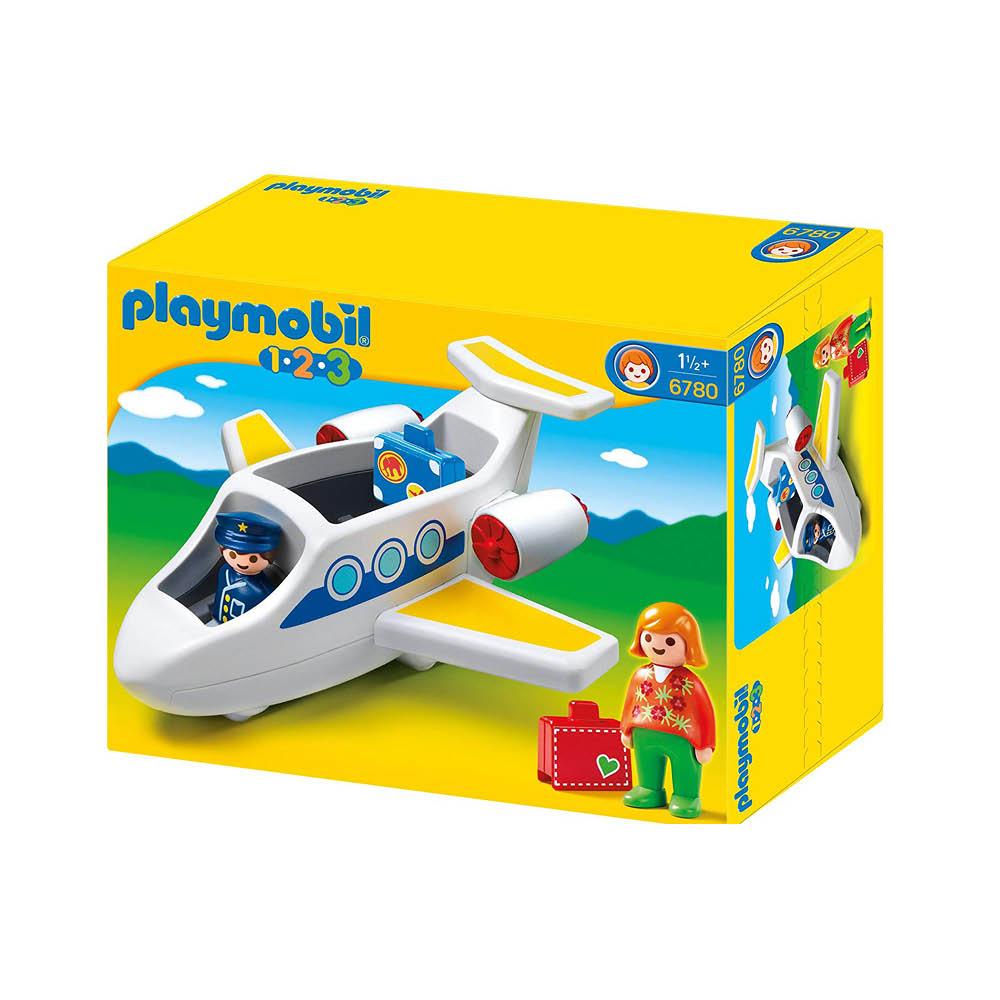 Nye Køb Playmobil 1-2-3 | Flyvemaskine nr. 6780 | Playmobilland Danmark EM-36