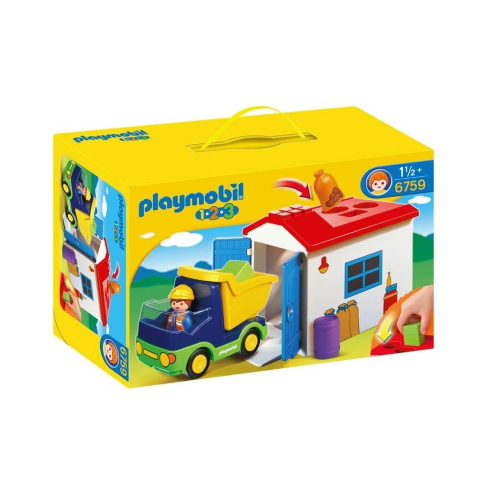 Moderne Køb Playmobil 1-2-3 - Lastbil med garage 6759 - Playmobilland Danmark KG-03