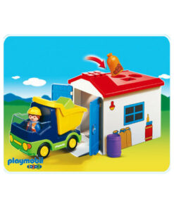 Playmobil 1-2-3 Lastbil med garage 6759