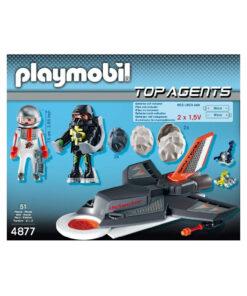 Playmobil top agents 4877 detektor jetflyver