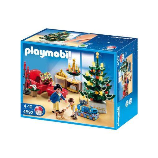 Playmobil juleaften med lysende juletræ 4892