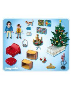 Playmobil juleaften med lysende juletræ 4892 bagside