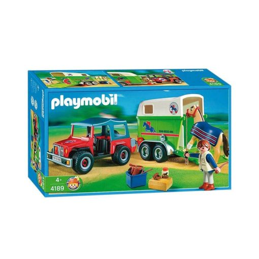 Playmobil Country hestetrailer med jeep 4189 æske