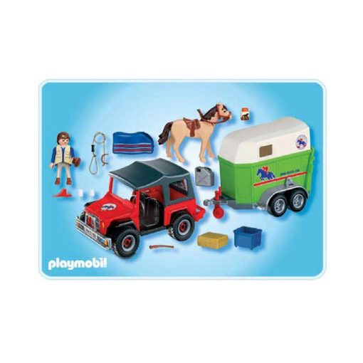 Playmobil Country hestetrailer med jeep 4189 bagside