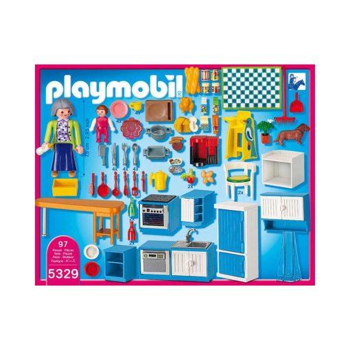 Playmobil dukkehus 5329 Køkken bagside