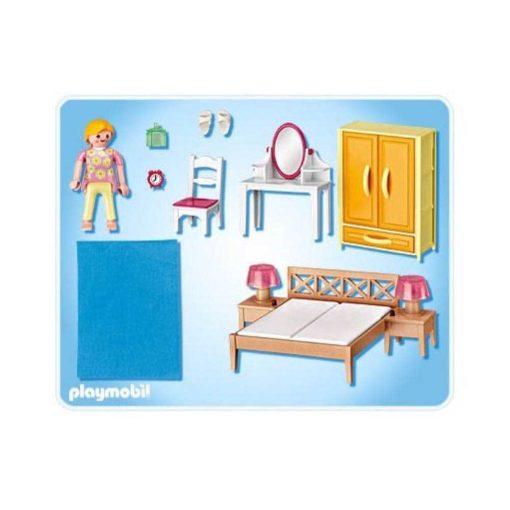Playmobil dukkehus 5311 Forældrenes soveværelse bagside