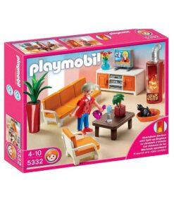Playmobil Dukkehus dagligstue med pejs