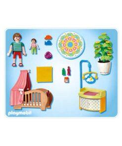 Playmobil dukkehus vugge og puslebord 5334 indhold