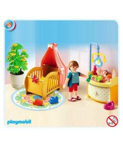Playmobil dukkehus vugge og puslebord 5334