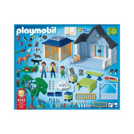 Playmobil dyreklinik 4343 bagside