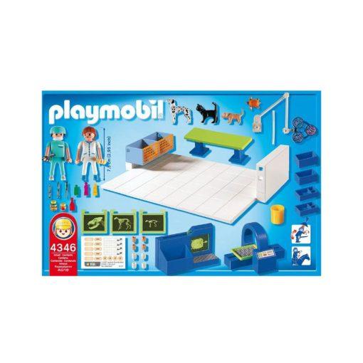 Playmobil dyrlæge operationsstue 4346 bagside