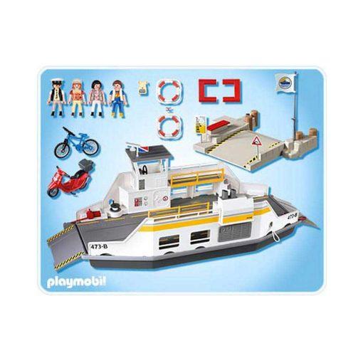 Playmobil færge 5127 bagside indhold