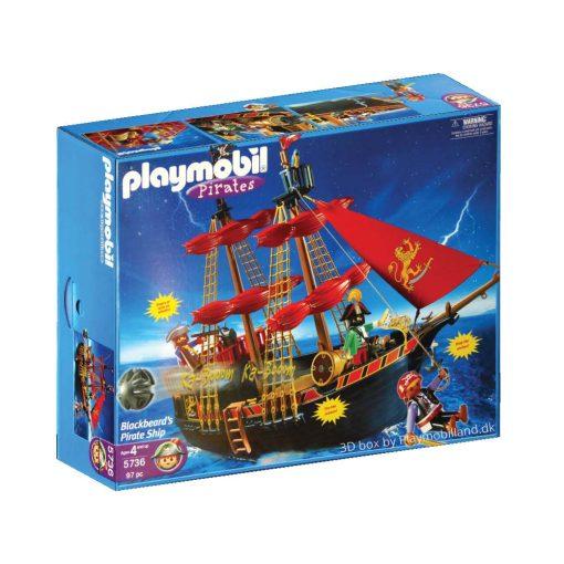 Playmobil piratskib 5736 Sortskæg blackbeard