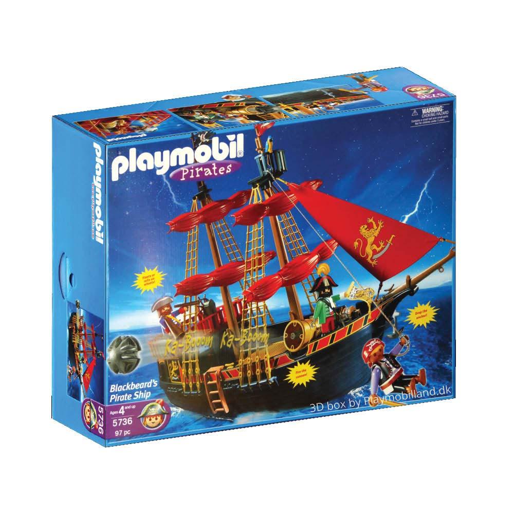 Populære Køb Playmobil Pirater - Sortskægs piratskib 5736 - Playmobilland EA-29