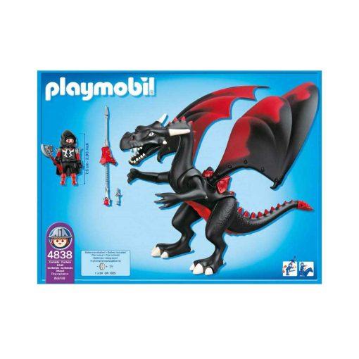 Playmobil ridder med sort Kæmpedrage 4838