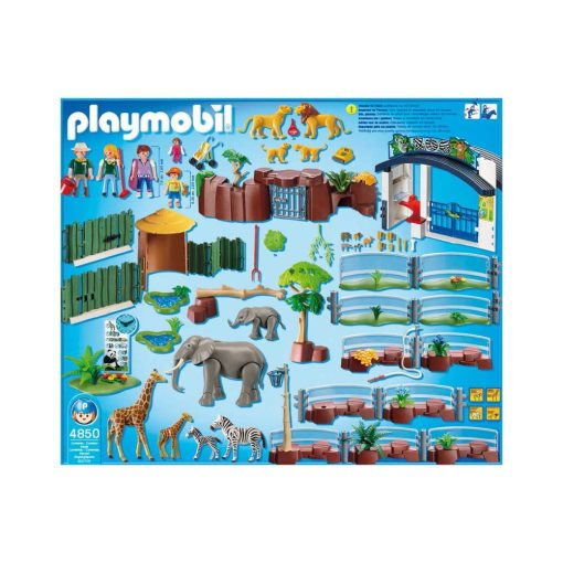Stor Playmobil Zoologisk Have 4850 indhold