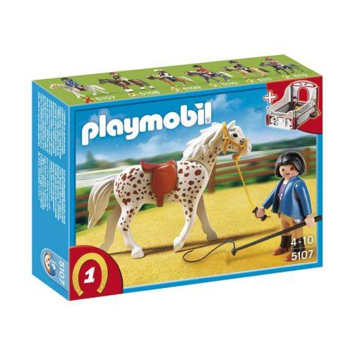 Playmobil Country 5107 Knabstrupper hest med træner og stald