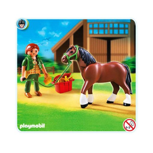 Playmobil Country Shire hest med stald 5108