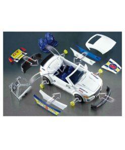 Hvid Playmobil racerbil med værksted 4365