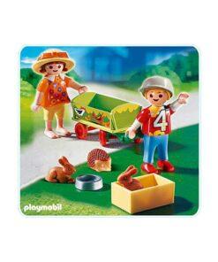 Playmobil børn trækvogn med kæledyr 4349