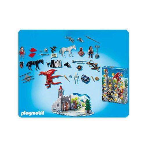 Playmobil Julekalender dragernes land 4160 indhold