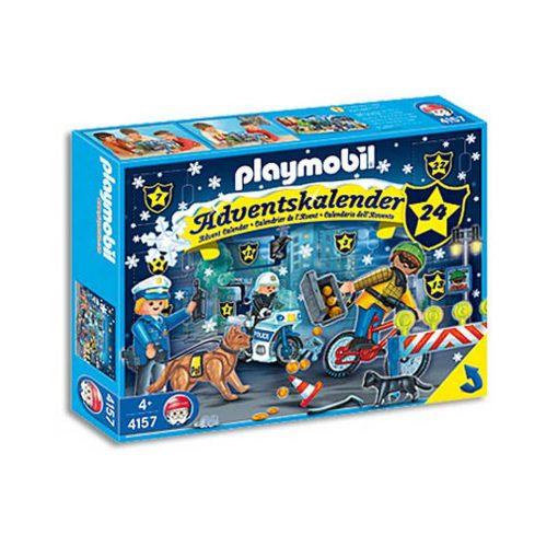 Playmobil julekalender politiet på forbryderjagt 4157 æske