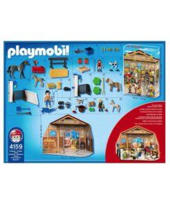 Playmobil Julekalender Rideskole 4159 bagside