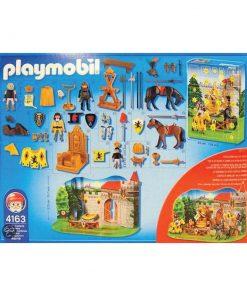 Playmobil julekalender 4163 ridderturnering bagside