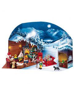 Playmobil Julekalender julemandens postkontor i kulisse