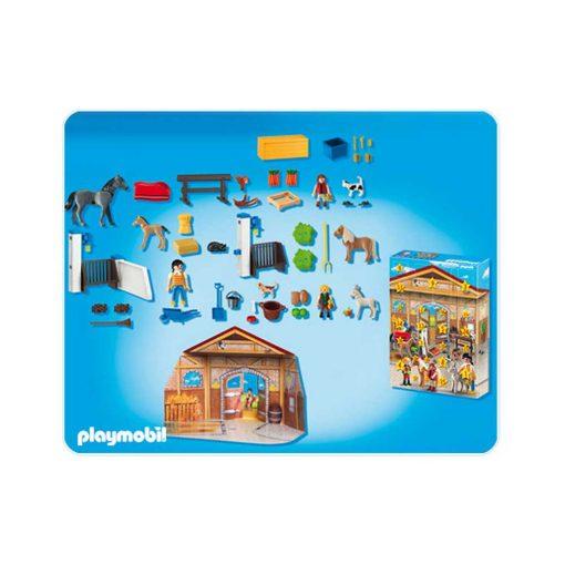 Playmobil Julekalender Rideskole 4159 indhold