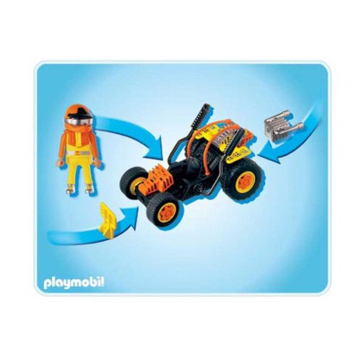 Playmobil Racerbil 4182 bagside