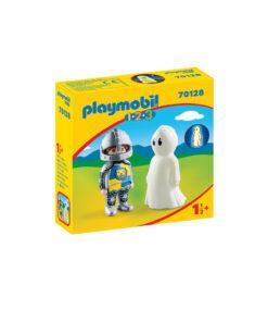 Selvlysende Playmobil spøgelse og ridder 70128 æske