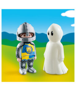 Selvlysende Playmobil spøgelse og ridder 70128 indhold