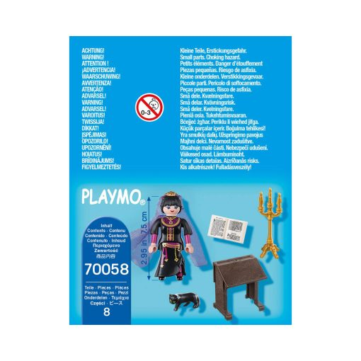 Sort Playmobil heks 70058 bagside