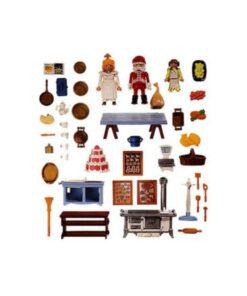 Vintage Playmobil julemarked julebageri 3978 indhold