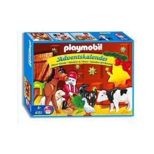 vintage playmobil julekalender dyrenes jul 4151 æske