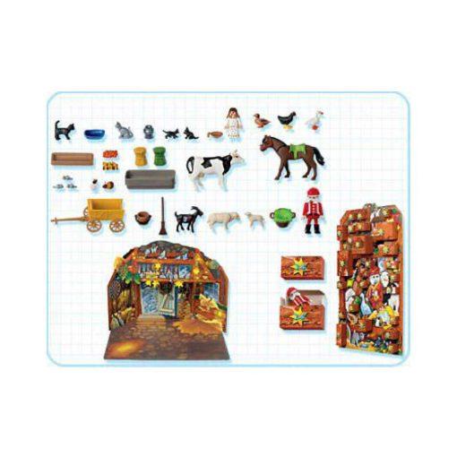vintage playmobil julekalender dyrenes jul 4151 indhold