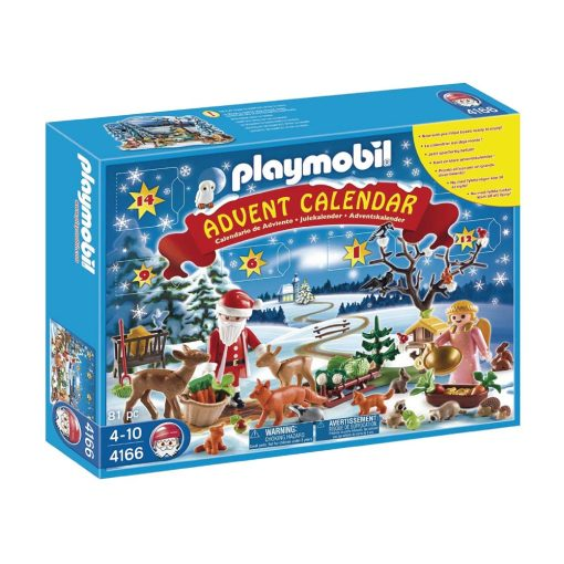 Playmobil julekalender 4166 vinter i skoven boks