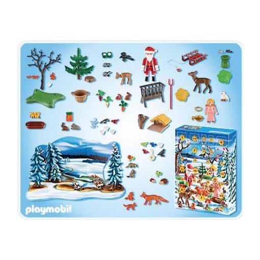 Playmobil julekalender 4166 vinter i skoven indhold