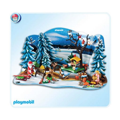 Playmobil julekalender 4166 vinter i skoven kulisse