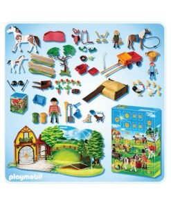 Playmobil julekalender Ponygården 4167 indhold