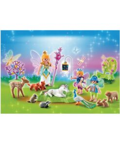 Playmobil julekalender 5492 enhjørning i feland illustration
