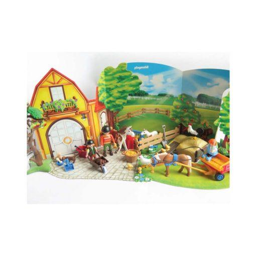 Playmobil julekalender Ponygården 4167 kulisse