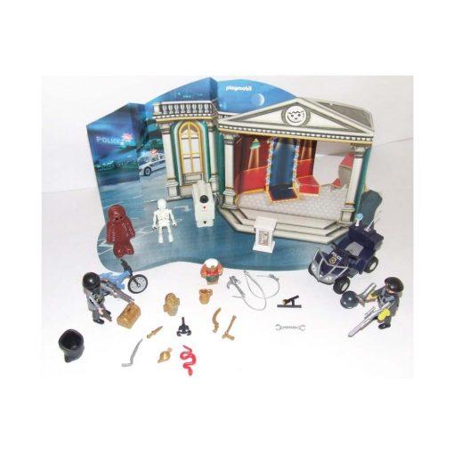 Playmobil julekalender indbrud i museet 4168 indhold