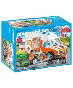 Playmobil ambulance med blinklys 70049 boks